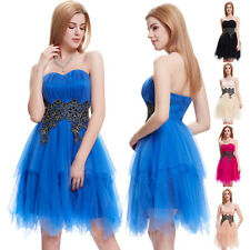 Formal Short Mini Tulle Evening Ball Gown Party Prom Wedding Bridesmaid Dress