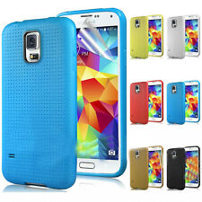 TPU Soft Silicone Gel Back Case Cover Rubber Skin For Samsung Galaxy S5 V i9600
