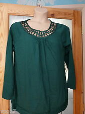 TOMMY & KATE LADIES LATTICE  TOP  GREEN PURPLE  or BLACK  UK SIZE 18