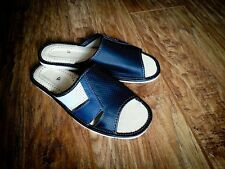 New Mens Black 100% Natural Leather Slippers Size 7 8 9 10 11  Luxur Flip-Flop
