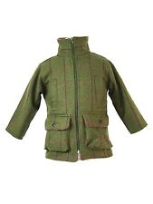 Girls Pink Check Shooting Hunting Tweed Jacket Fleece Lined Only 39.99