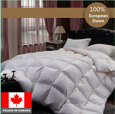 100% Cotton European White Down Duvet Comforter Canadian Standard Fill In Canada