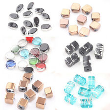 Stylish 20Pcs Mixed Crystal Glass 10 Colors  Loose Spacer Charms Bead DIY Gift