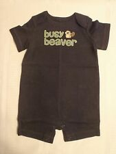 GYMBOREE Baby Boys 0-3 or 3-6 Month Smart Little Guy Busy Beaver One Piece NWT
