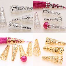 25/50Pcs Silver/Golden Plated Filigree Cone Bead Caps DIY Gift Finding 16x10x5mm