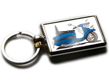 LAMBRETTA Scooter Moped Koolart Quality Chrome Keyring Picture Both Sides!