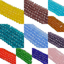 New 100Pcs Czech Glass Colorful Rondelle Crystal Spacer Loose Bead Charms DIY