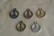 TierraCast® Pewter Charm Peace Symbol 15mm lead-free 1pc