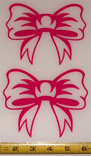 Ribbon Bow - Set of 2 HQ Single Color High Gloss Vinyl Decals!