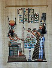 "NEW HAND PAINTED EGYPTIAN PAINTING ON PAPYRUS 12""x16"" A72"