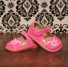 Hot Pink Toddler Girls Mary Jane Velcro Squeaky Shoes, Sizes 3, 4, 5, 6, 7, 8, 9