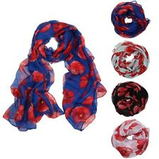 Flower Lady Women Fashion Stylish Soft Scarf Shawl Neck Wrap Headscarf Stole