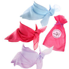 Garden Party Fashion Scarf Set - Blue, Rose Pink and Lilac Sheer Chiffon Scarves