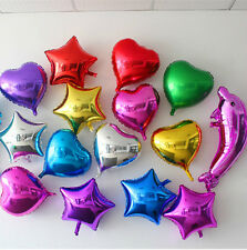 Colored Foil Balloons Heart Star Round Design Wedding Birthday Party Decoration