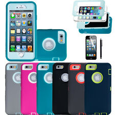 Shockproof Silicone rubber Heavy Duty Skin Cover Case for IPhone 5/5S & 6/6S