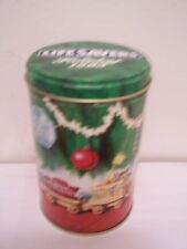 Christmas Tin Tins Wooden Toy Train Tree 1993 Life Savers Holiday Empty Cookies
