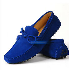 Hot Mens 12 Colors Suede Leather Lined Loafers Moccasin Gommino Driving Shoes Sz