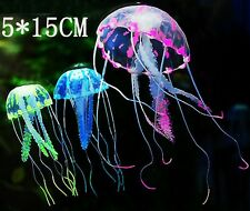 1PCS Jellyfish Aquarium Decoration Artificial Glowing Effect Fish Tank Ornament