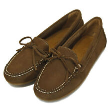 Minnetonka Ladies' 69814 Mexico Tie Driving Moccasin in brown nubuck US 9 UK 7