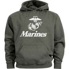 USMC hoodie Men's size US Marines hooded sweatshirt marine corps sweat shirt