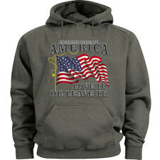 USA sweatshirt hoodie Men's size USA pride hooded sweatshirt American pride