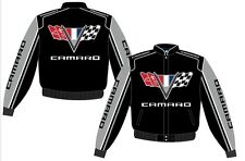 Authentic Camaro Racing  Embroidered Cotton Jacket JH Design Black  New