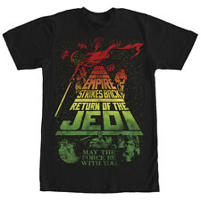 Star Wars Title Collage Mens Graphic T Shirt
