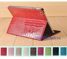 Crocodile pattern PU Leather Case Smart COVER FOR ipad 4 3 2 3rd +Free film