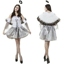 New Cosplay Costume Angel Wing Goddness Adult Outfits Halloween Party Sexy Dress