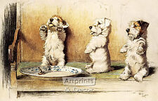 For What We Are About to Receive by Cecil Aldin (Art Print of Vintage Art)