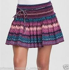 GUESS BY MARCIANO Skirt Tiered Gypsy Zig Zag Print SZ XS 0