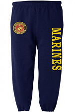 US Marines sweatpants Men's size USMC sweats marine corps sweat pants navy blue