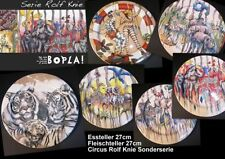 Diner Plate 10 5/8in BOPLA Porcelain Rolf Elbow Circus Series Meat Dishes Dinner