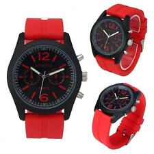 New fascinating Geneva Women Fashion Unisex Silicone Analog Quartz Wrist Watch