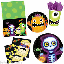 Boo Buddies Monsters Halloween Party Plates Napkins Cups Tableware Listing
