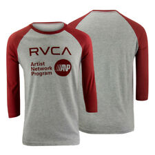 RVCA VA Sport ANP 3/4 Sleeve Raglan Shirt (Athletic Gray/Red)
