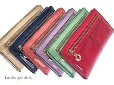 Dress Patent Leather PU Bifold Wallet Card Holder Slots Coin Bag Purse	  JBM863