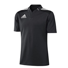 ADIDAS 3 STRIPE RUGBY JERSEY S-XL NEW 50€ POLOSHIRT functional shirt all blacks