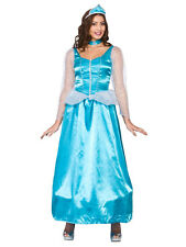 Adult Ladies Ice Blue Snow Queen Fancy Dress Costume Princess Outfit Fairytale