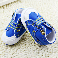 Toddler baby boy baby shoes fashion blue crib shoes size 0-6 6-12 12-18 months