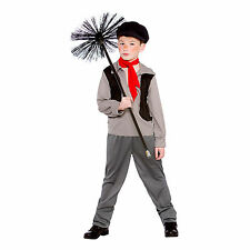 Boys Victorian Chimney Sweep Fancy Dress Up Party Costume Halloween Child Outfit