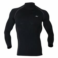 Mens Thermal Underwear Compression Long Sleeve Shirts Under Layer Napping NLM