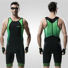 Men's Bicycle Skinsuit Road Bike Summer Cycling 3D Padded Triathlon S-2XL AU