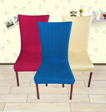 """""""4 Colors""""-Super Fit Stretch Short Removable Dining Room Chair Cover flat Chd010"""