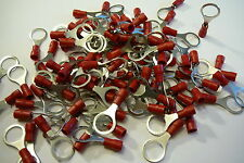 red 10.5mm ring terminal crimp connector (for 10mm bolt / screw) 25 50 100 pack