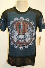 NWT AFFLICTION AMERICAN CUSTOMS AC MC MOTOR CLUB BORN WILD TEE  SHIRT SIZE M L
