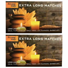 2 Boxes of Bryant & May Extra Long Safety Matches- Ideal For Fires, BBQs etc