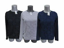 Womens Blouse Lace Ladies Top Long Sleeve Cotton Scoop Neck
