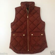 J. Crew Excursion Quilted Down Vest NWT Color: Bronzed Brown Size: XXS XS S M XL