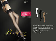 Fiore Obsession Designer Justine Stockings 20 Denier Sheer Legs Now Up to XXXL